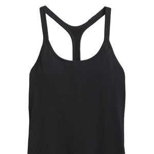 Athleta Renew Support Top Ribbed M Black
